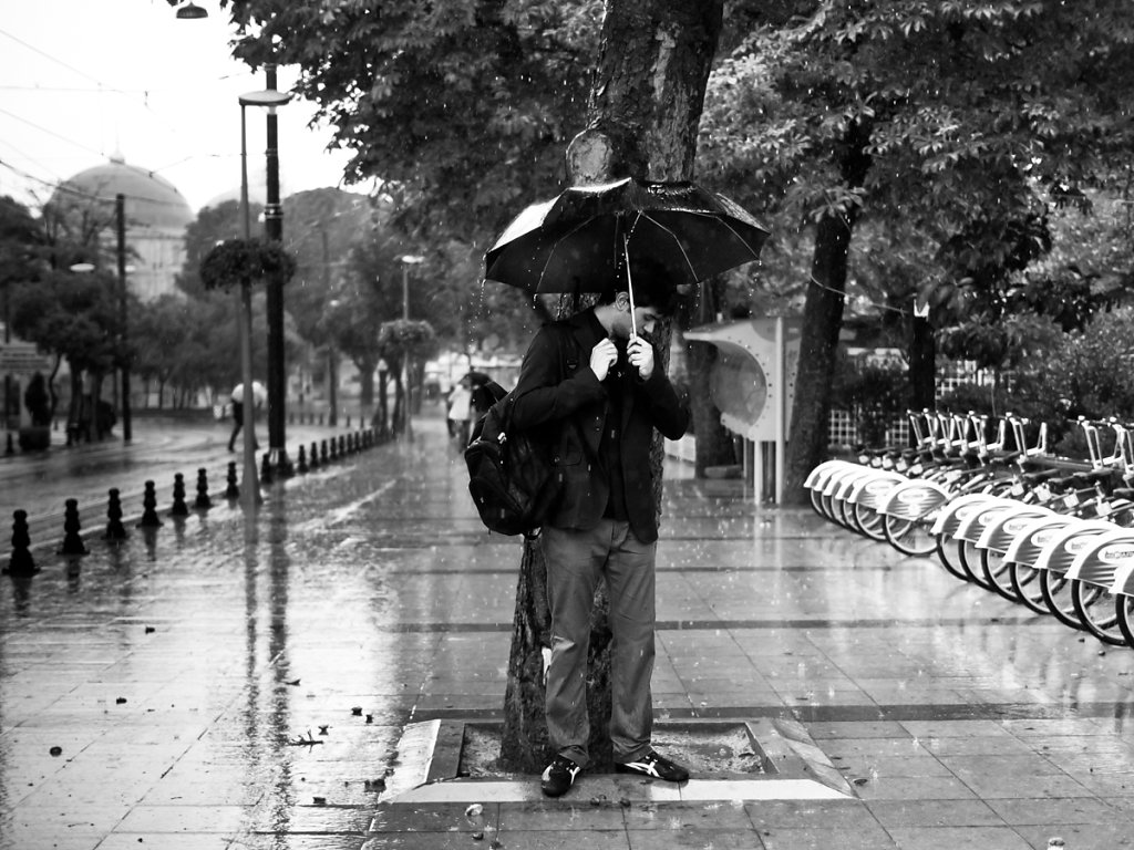 Why does it always rain on me, Sultanahmet - Istanbul