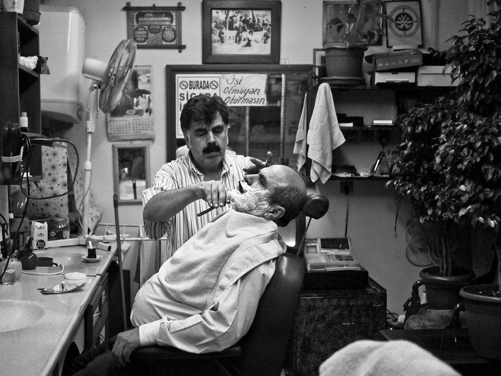 Even the greatest beards known to man need to be shaved, Tarlabaşı - Istanbul