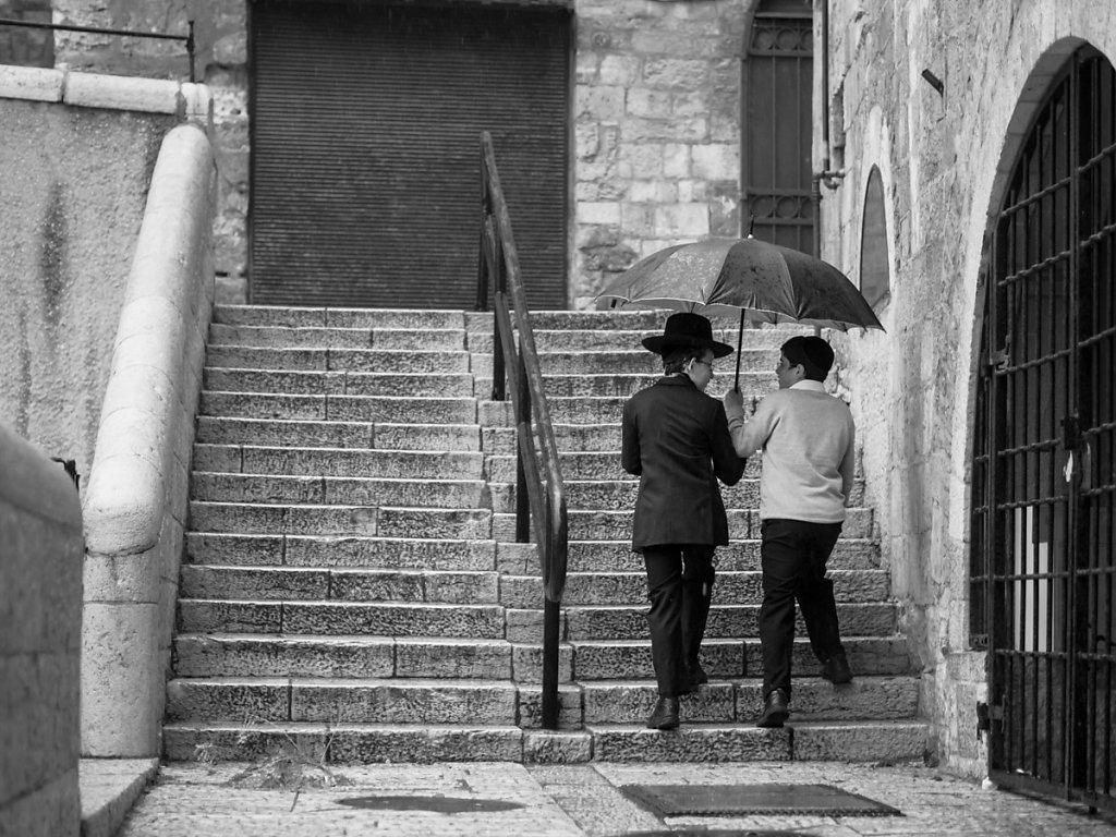 Rain, Jerusalem - Jewish Quarter