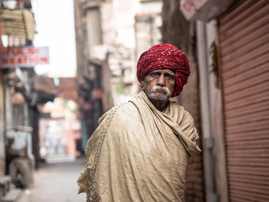 And he wore a red Turban, Pink City - Jaipur - Rajasthan