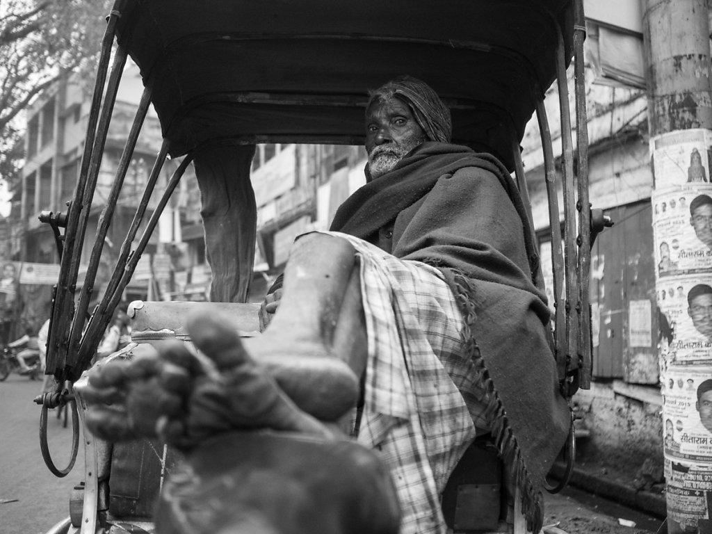 Rickshaw driver's feet, Varanasi - Assi Ghat