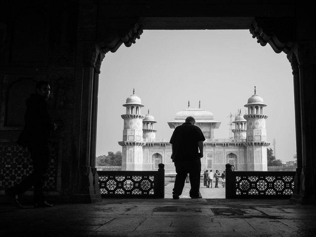 American in Tomb of I'timād-ud-Daulah, Baby Taj Mahal - Agra