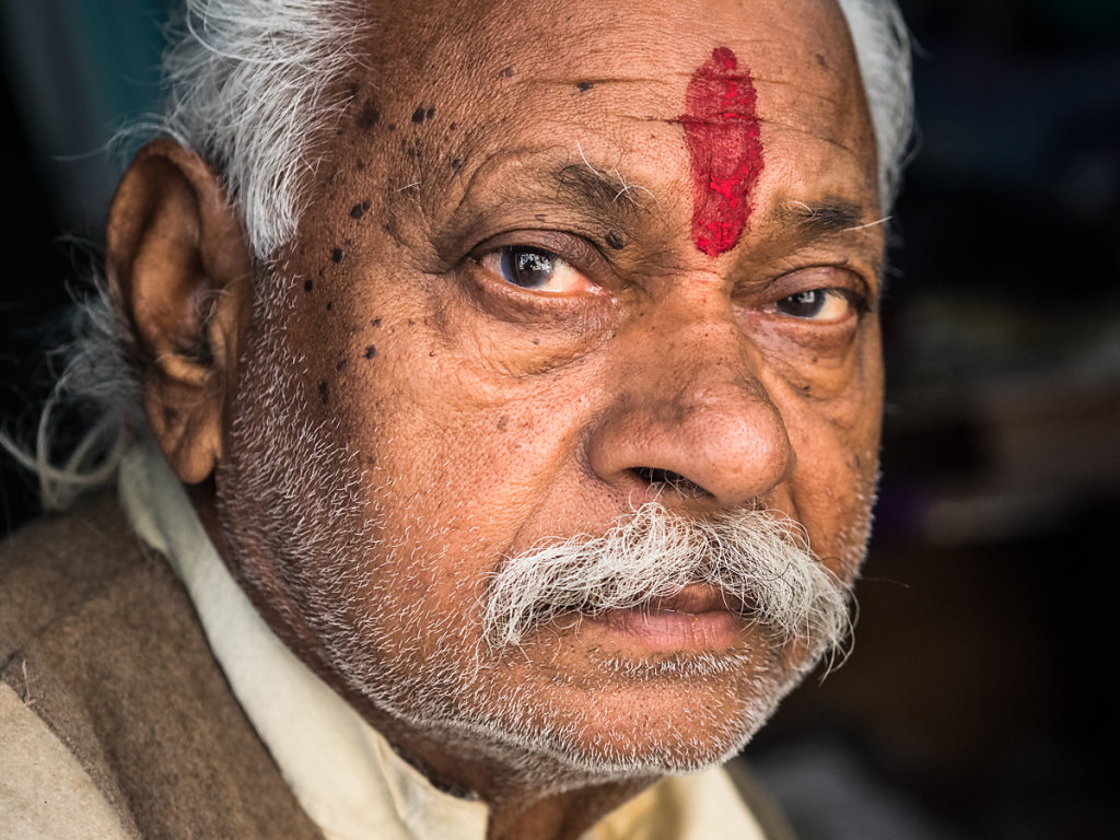 Man with religious paint on forehead, Jodhpur - Rajasthan